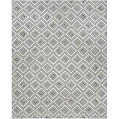 Sevastopol Hand-Woven Ivory/Gray Area Rug Rug Size: Rectangle 8 x 10
