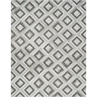 Sevastopol Hand-Woven Ivory/Dark Gray Area Rug Rug Size: Rectangle 8 x 10