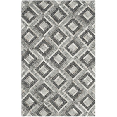 Sevastopol Hand-Woven Ivory/Dark Gray Area Rug Rug Size: Rectangle 5 x 8