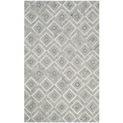 Sevastopol Hand-Woven Ivory/Gray Area Rug Rug Size: Rectangle 3 x 5
