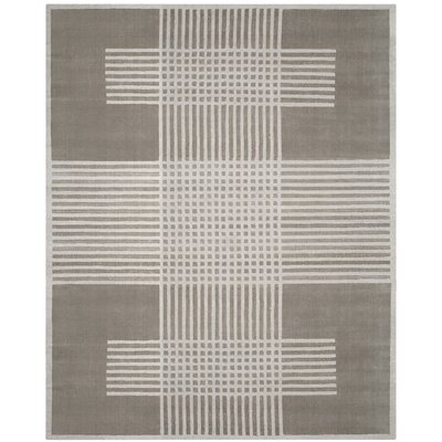 Maxim Hand-Woven Light Gray Area Rug Rug Size: Rectangle 9 x 12
