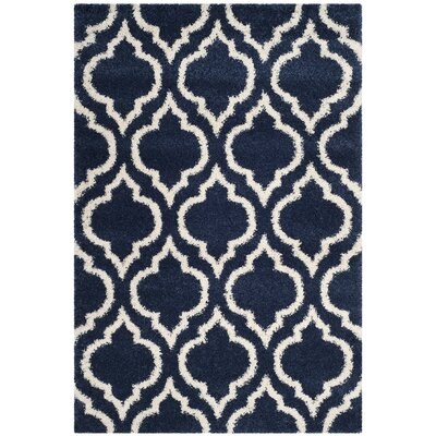 Melvin Blue/Beige Area Rug Rug Size: Rectangle 51 x 76