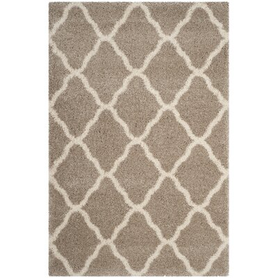 Melvin Shag Beige/Brown Area Rug Rug Size: Rectangle 51 x 76