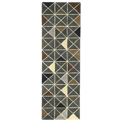 Hitz Hand-Tufted Gray Indoor Area Rug Rug Size: Runner 23 x 8