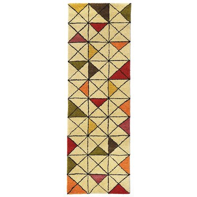 Hitz Hand-Tufted Natural Area Rug Rug Size: Runner 23 x 8