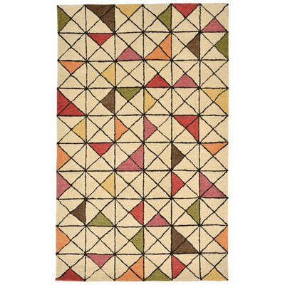 Hitz Hand-Tufted Natural Area Rug Rug Size: 5 x 8