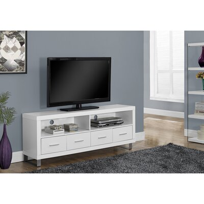 Maner 60 TV Stand Color: White