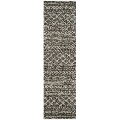 Elbridge Shag Brown/Ivory Area Rug Rug Size: Runner 23 x 8