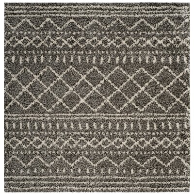 Elbridge Shag Brown/Ivory Area Rug Rug Size: Square 67