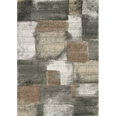 Esqueda Grey/Brown Area Rug Rug Size: Rectangle 53 x 77