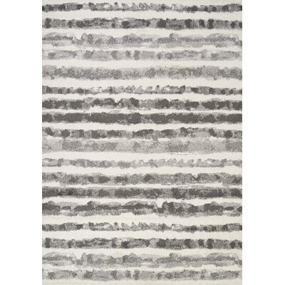 Benn Gray Area Rug Rug Size: 53 x 77