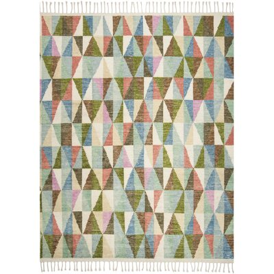Lohan Hand-Knotted Green/Blue Area Rug Rug Size: Rectangle 8 x 10