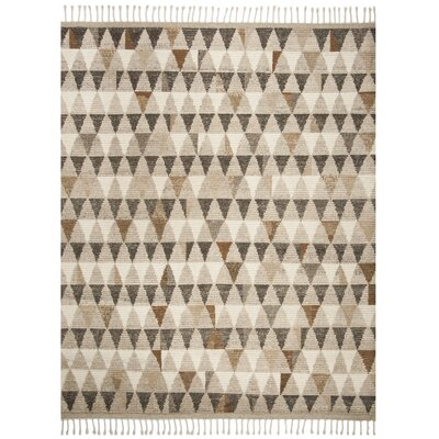 Lohan Hand-Knotted Ivory Area Rug Rug Size: Rectangle 9 x 12