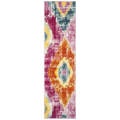 Greaney Pink Area Rug Rug Size: Runner 22 x 8