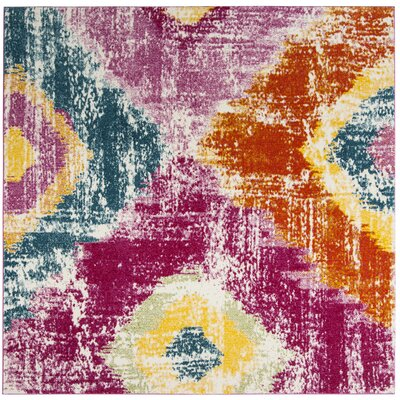 Greaney Pink Area Rug Rug Size: Square 67