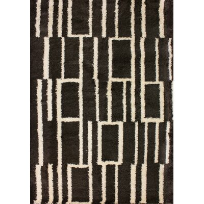 Cabezas Tree Bark Brown/Cream Shag Area Rug Rug Size: 53 x 77