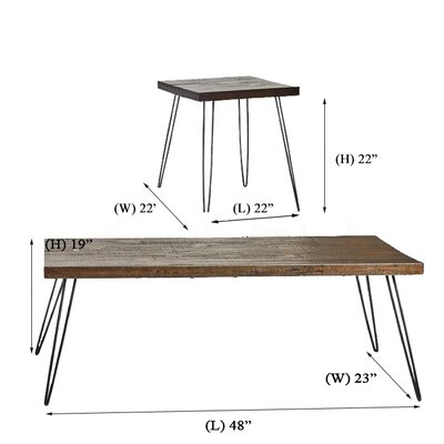Stuber Living Room 3 Piece Coffee Table Set