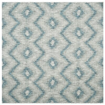 Mcguffin Gray/Blue Indoor/Outdoor Area Rug Rug Size: Square 67