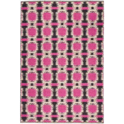 One-of-a-Kind Delaney Hand-Woven Black/Pink/Beige Indoor  Area Rug