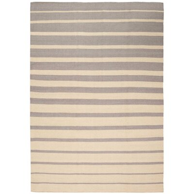 One-of-a-Kind Delaney Hand-Woven Ivory/Gray Indoor Area Rug