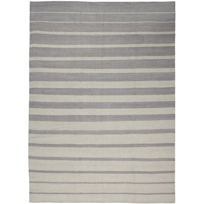 One-of-a-Kind Delaney Hand-Woven Light Gray Indoor Area Rug