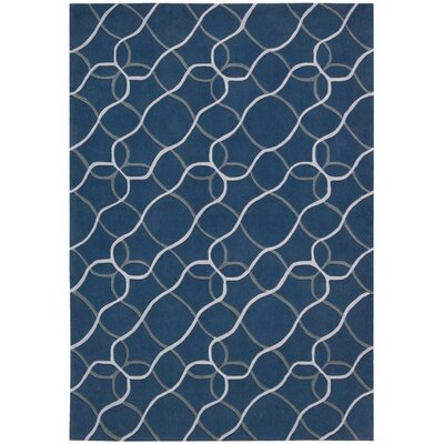 Venable Handmade Denim/White�Area Rug Rug Size: Rectangle 36 x 56