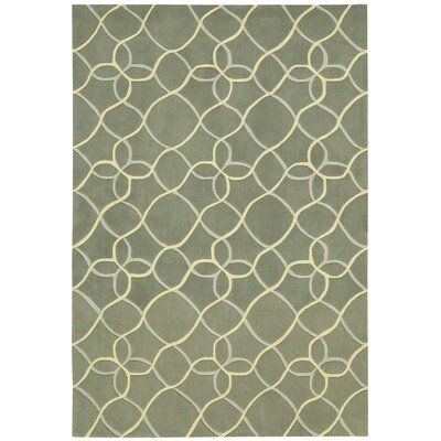 Venable Handmade Sage/Beige Area Rug Rug Size: Rectangle 36 x 56