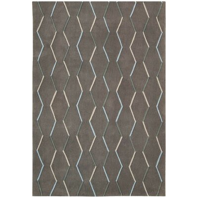 Venable Hand-Tufted Charcoal Area Rug Rug Size: Rectangle 73 x 93
