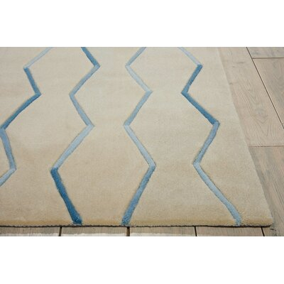 Venable Hand-Tufted Ivory Area Rug Rug Size: Rectangle 73 x 93