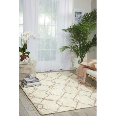 North Moore Hand-Tufted Ivory/Tan Area Rug Rug Size: Rectangle 5 x 7