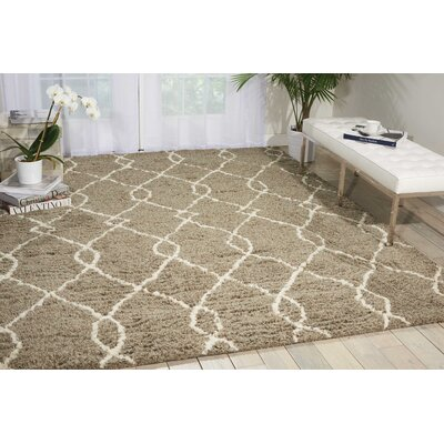 North Moore Hand-Tufted Mocha/Ivory Area Rug Rug Size: Rectangle 7'6