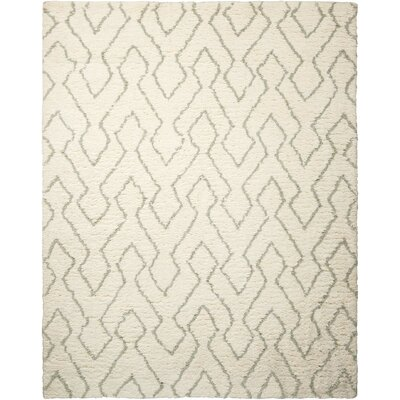 North Moore Hand-Tufted Ivory/Sage Area Rug Rug Size: Rectangle 76 x 96