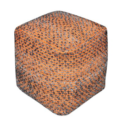 Newhouse Pouf Upholstery: Orange