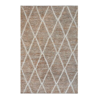 Nelms Hand-Woven Ivory Area Rug Rug Size: 9 x 12