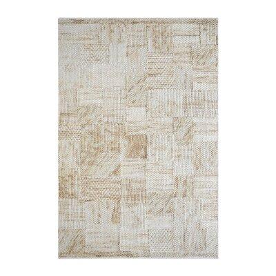 Nettleton Hand-Woven Wool Beige Area Rug Rug Size: 5 x 8