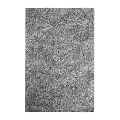 Nemeth Hand-Woven Wool Gray Area Rug Rug Size: 9 x 12