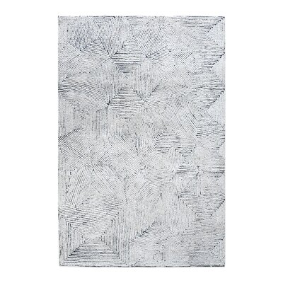 Nicol Hand-Tufted Blue Area Rug Rug Size: 5 x 8