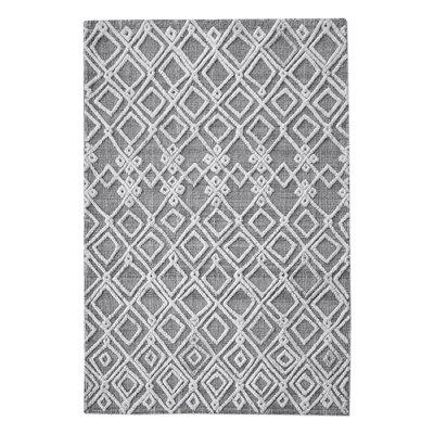 Nicoletti Hand-Woven Wool Gray/Ivory Area Rug Rug Size: 8 x 10