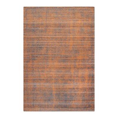 Neese Hand-Woven Wool Burnt Orange Area Rug Rug Size: 9 x 12