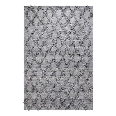 Nicosia Hand-Woven Wool Gray Area Rug Rug Size: 5 x 8