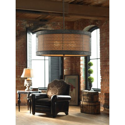 Vanhook 3-Light Hanging Drum Foyer Pendant