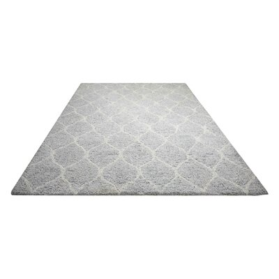 North Moore Hand-Tufted Light Grey Area Rug Rug Size: Rectangle 76 x 96