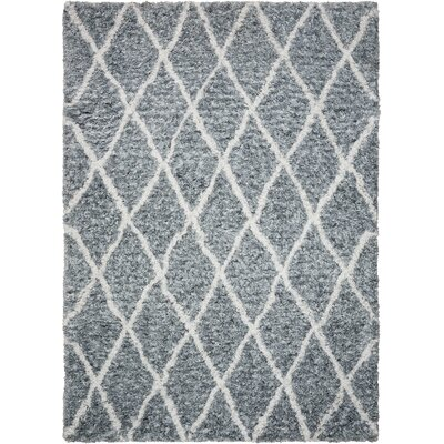 North Moore Hand-Tufted Gray/Ivory Area Rug Rug Size: Rectangle 5 x 7