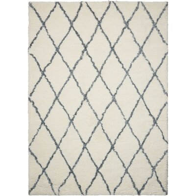 North Moore Hand-Tufted Ivory/Gray Area Rug Rug Size: Rectangle 5 x 7