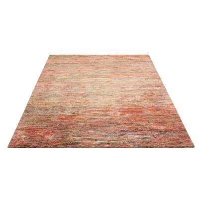 Nyssa Hand-Tufted Fire Opal Area Rug Rug Size: Rectangle 56 x 75