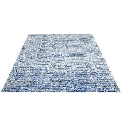 Nyssa Hand-Tufted Lapis Area Rug Rug Size: Rectangle 56 x 75