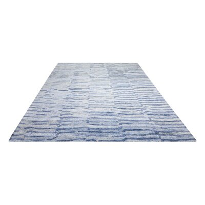 Nyssa Hand-Tufted Lapis Area Rug Rug Size: Rectangle 79 x 99
