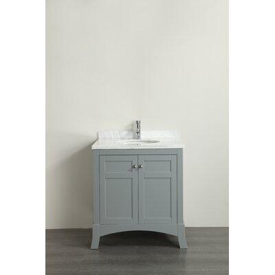 Piccirillo 30 Single Bathroom Vanity Set Base Finish: Gray