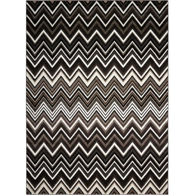 Olympias Gray/Black Area Rug Rug Size: Rectangle 7'9