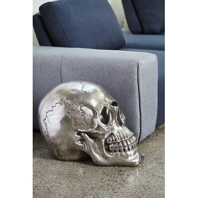 Decoratve Skull Gun Metal Figurine